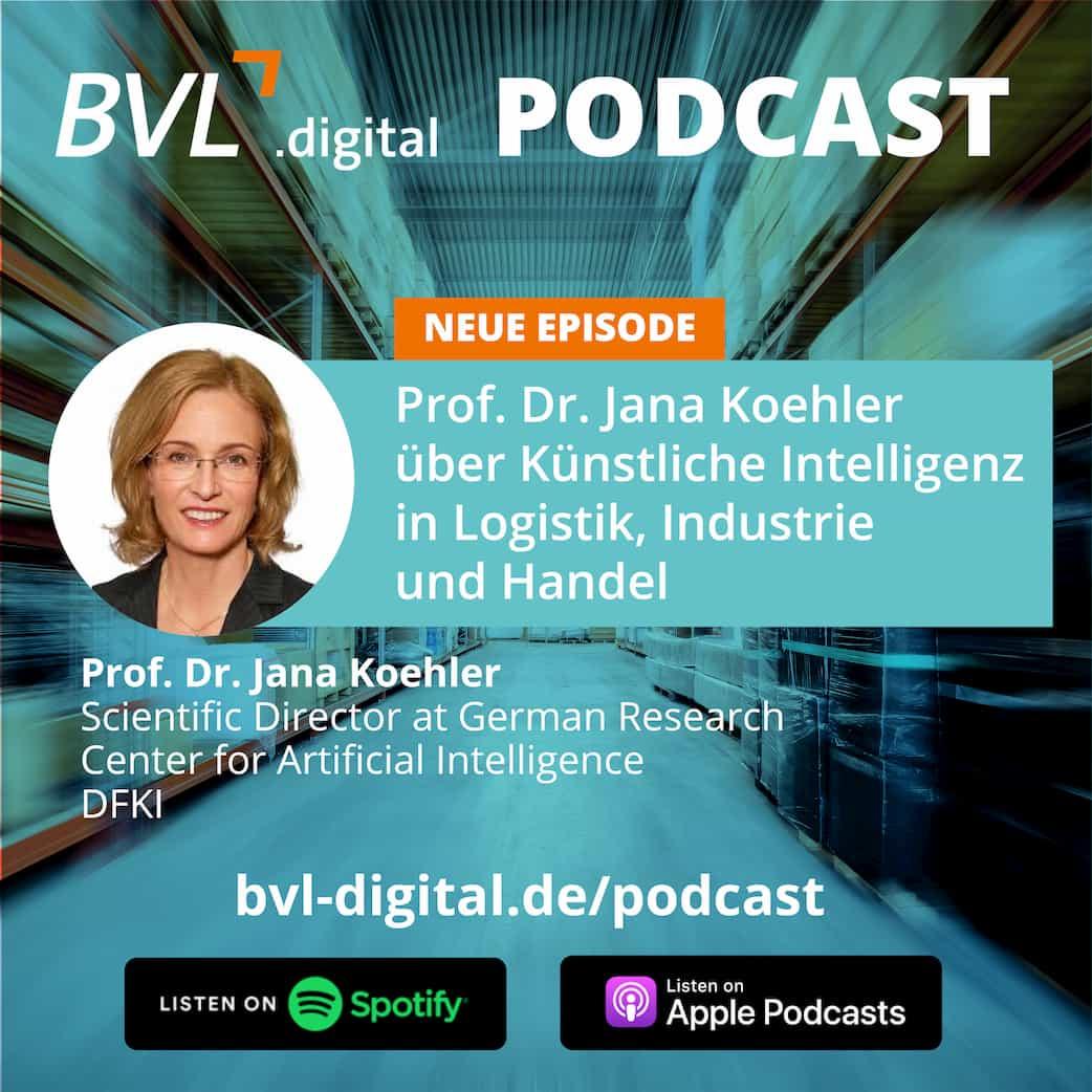 #9: Prof. Dr. Jana Koehler über Künstliche Intelligenz in Logistik, Industrie und Handel