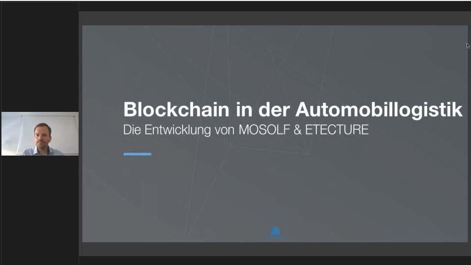 Blockchain in der Automobillogistik. Die Entwicklung von MOSOLF & ETECTURE