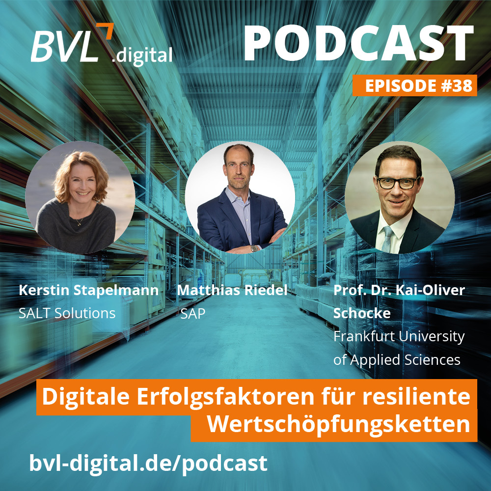 Der BVL.digital Podcast mit Salt Solutions, SAP und der Frankfurt University of Applied Sciences