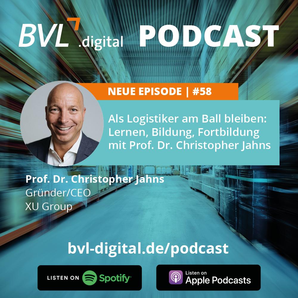 #58: Als Logistiker am Ball bleiben: Lernen, Bildung, Fortbildung mit Prof. Dr. Christopher Jahns