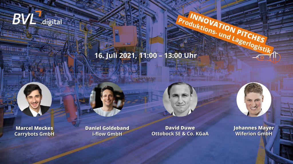 Innovation Pitches –  Produktions- und Lagerlogistik